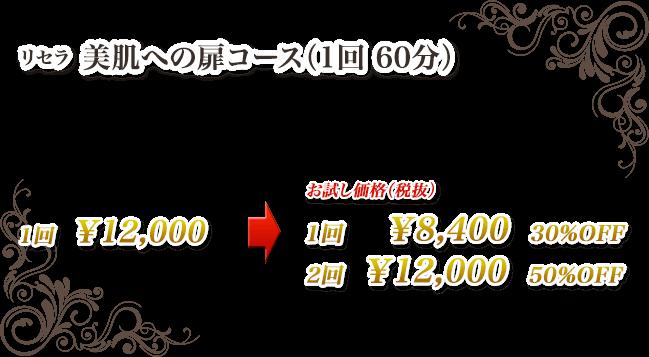 リセラ 美肌への扉コース(1回 60分)