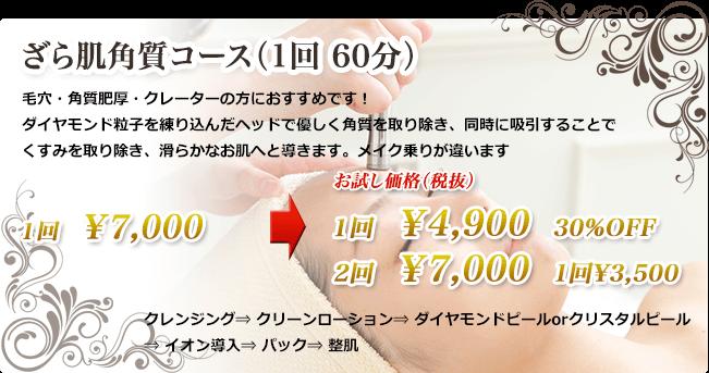 ざら肌角質コース(1回 60分)